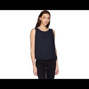 Max Studio XS Navy Blue tank top bubble blouse